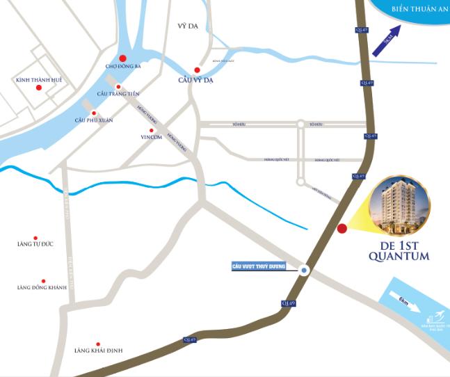 Vị trí dự án De 1st Quantum trên bản đồ