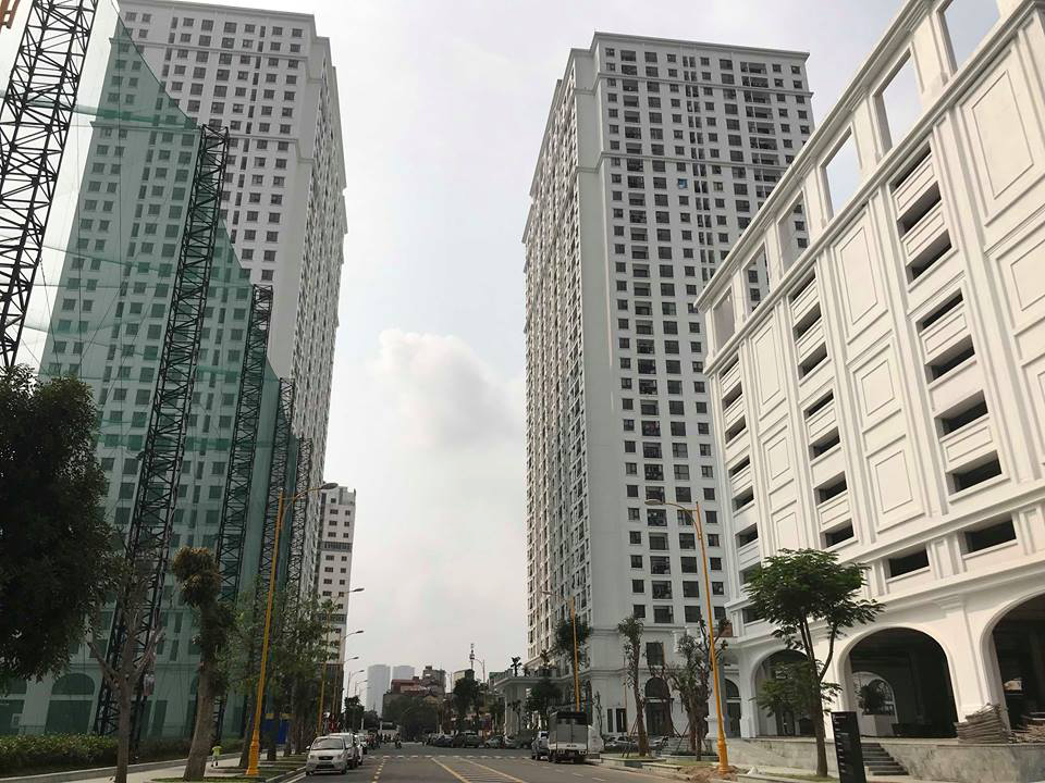 hai tòa nhà chung cư cao tầng