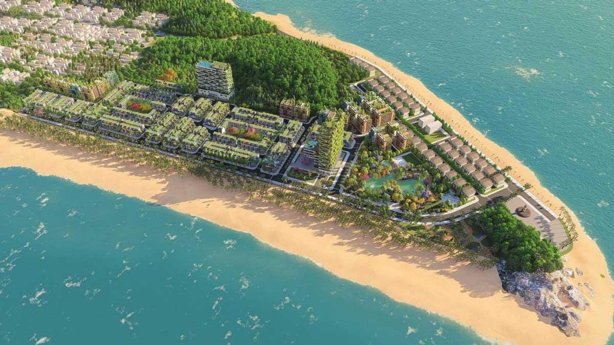Phối cảnh tổng  thể dự án Flamingo Crown Bay tại Hoằng Hóa, Thanh Hóa