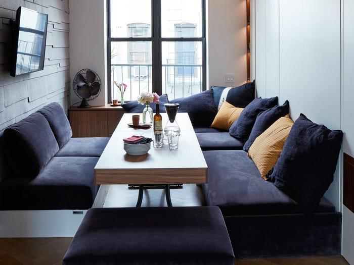 bộ sofa ghép trong phòng khách