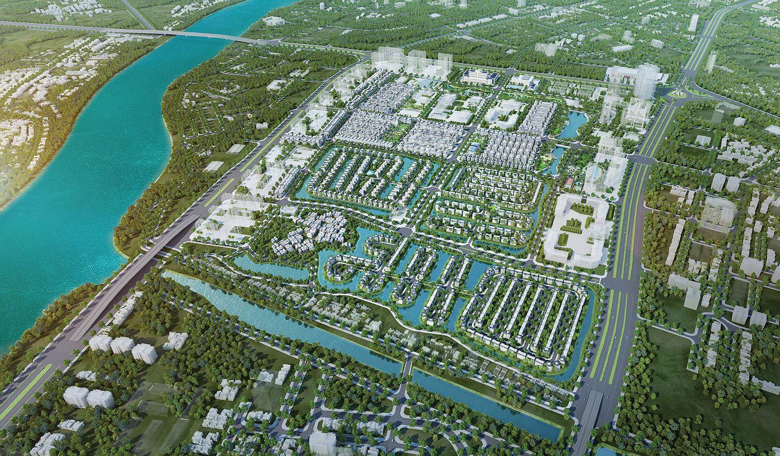 Phối cảnh tổng thể dự án Vinhomes Cổ Loa tại Đông Anh, Hà Nội