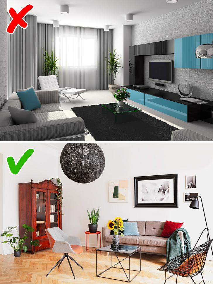 10 quy tắc thiết kế nội thất lỗi thời nên phá bỏ