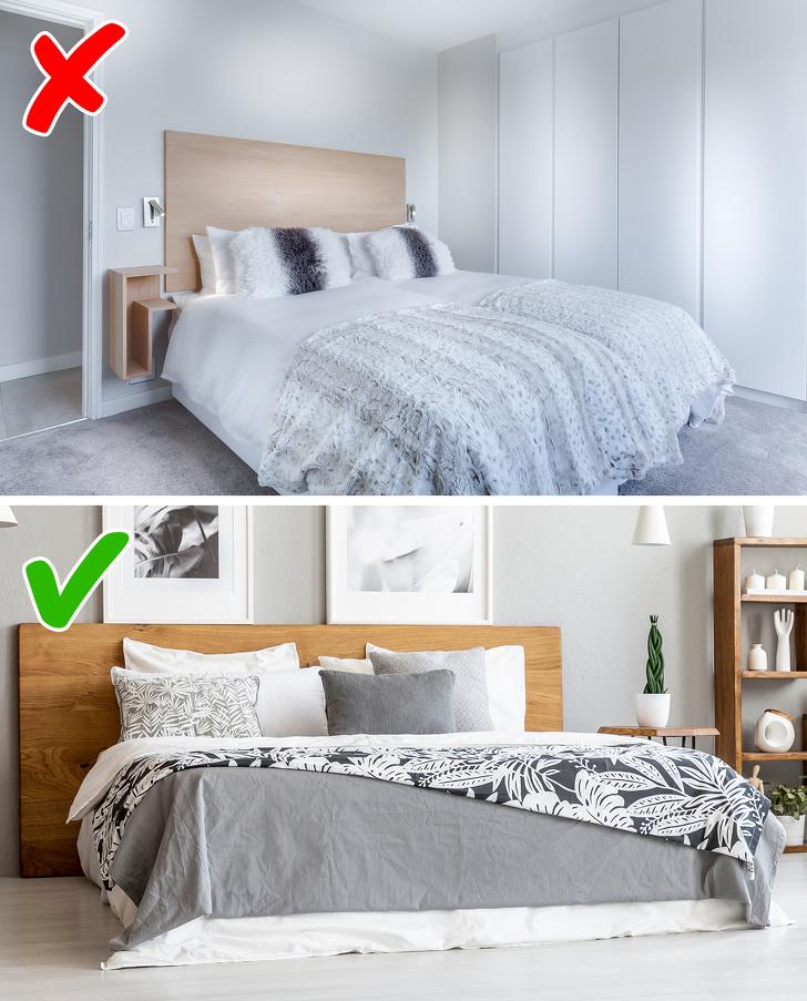 phòng ngủ trung tính và phòng ngủ màu tươi sáng