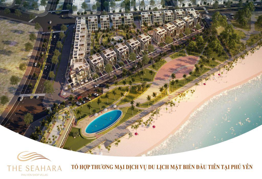 Phối cảnh tổng thể dự án shophouse villas The Seahara tại Tuy Hòa, Phú Yên