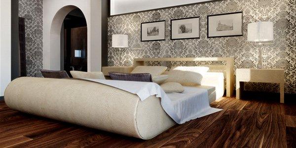 phòng ngủ lát sàn gỗ