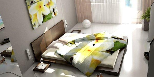 phòng ngủ với ánh sáng tự nhiên ngập tràn