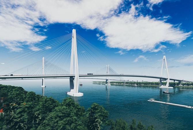 hình ảnh cây cầu bắc qua sông