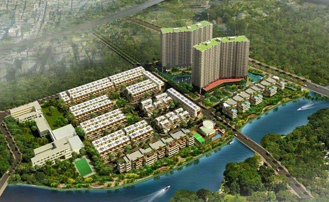 hình ảnh phối cảnh khu dân cư nhìn từ trên cao