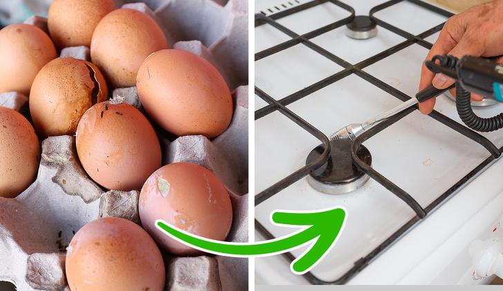 trứng thối và bếp ga rò rỉ khí