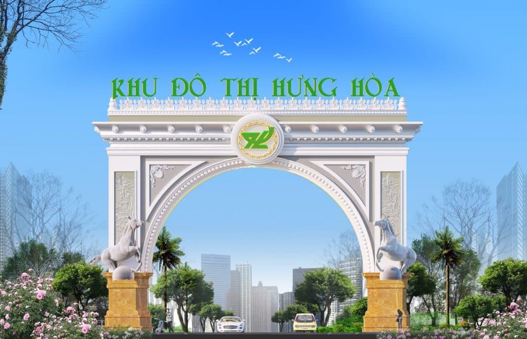 Cổng chào dự án Khu đô thị Hưng Hòa