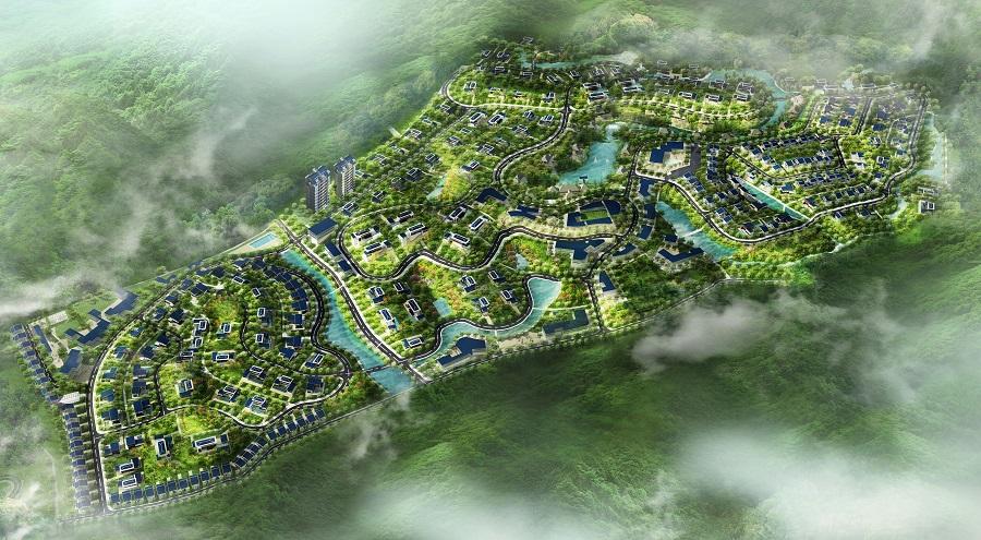Hình ảnh phối cảnh tổng thể dự án Legacy Hill tại Lương Sơn, Hòa Bình