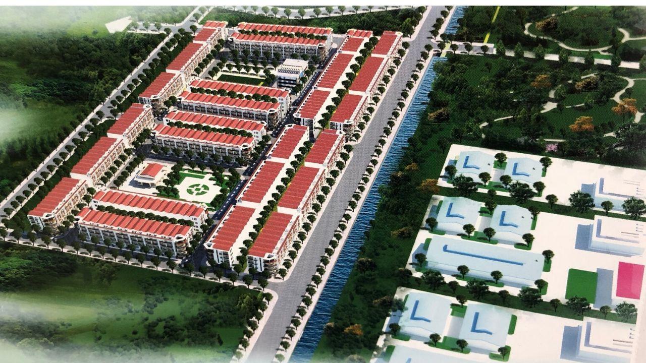 Phối cảnh tổng thể dự án Dũng Liệt Green City tại Yên Phong, Bắc Ninh