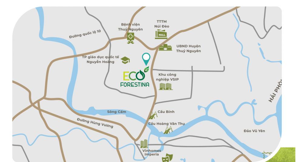 Vị trí dự án Eco Forestina trên bản đồ