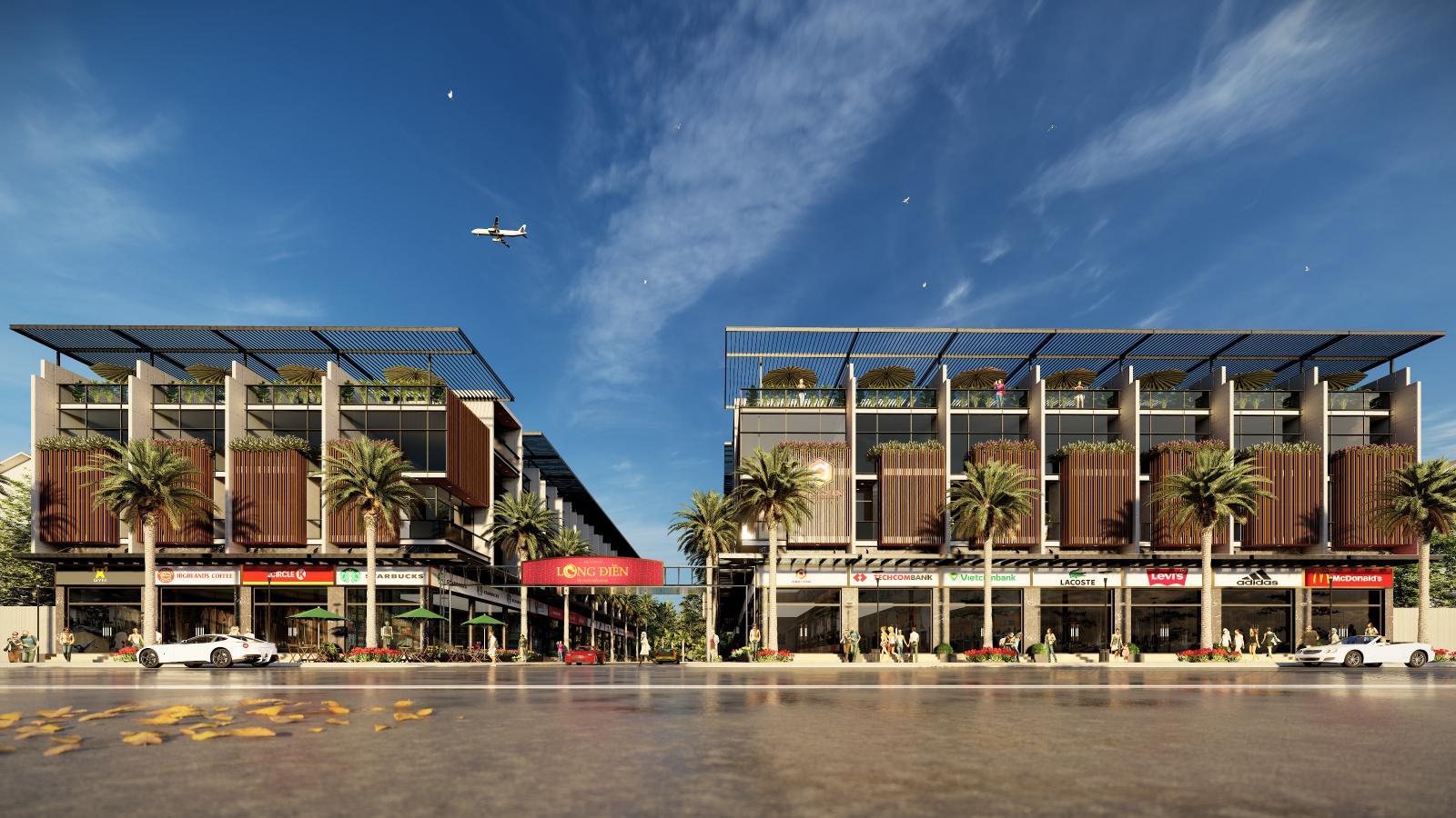 Hình ảnh phối cảnh dự án Khu dân cư Long Điền