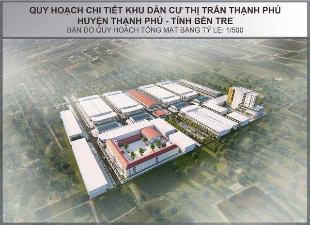 Phối cảnh tổng thể dự án Khu dân cư Thạnh Phú Center tại Bến Tre