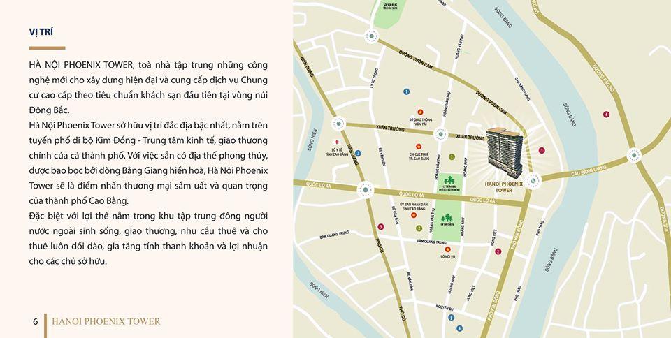 Vị trí dự án Hà Nội Phoenix Tower trên bản đồ