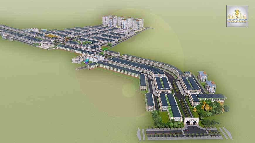 Phối cảnh tổng thể dự án Khu đô thị Việt Hàn City tại Phổ Yên, Thái Nguyên