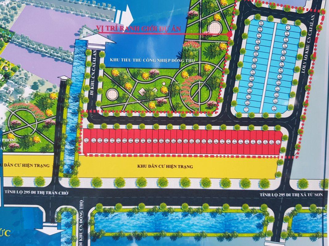 Sơ đồ quy hoạch tổng thể dự án Rich Town Yên Phong tại Yên Phong, tỉnh Bắc Ninh