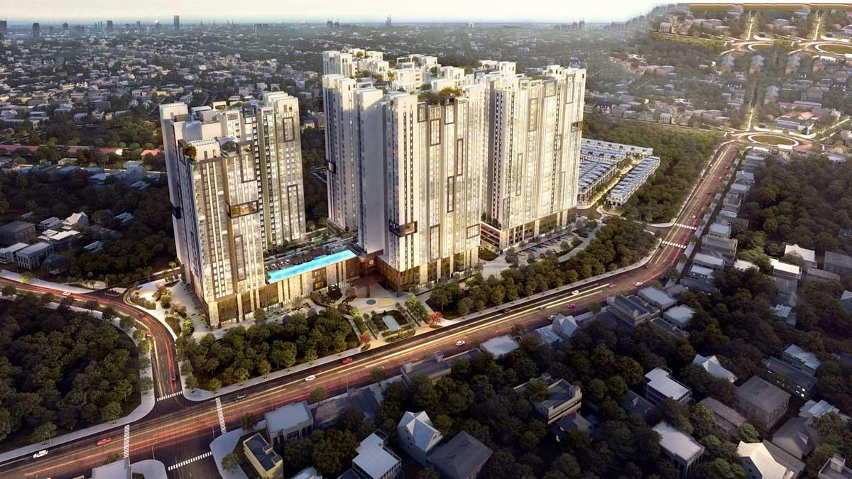 Phối cảnh tổng thể dự án Bình Dương Grand View tại Thuận An, Bình Dương