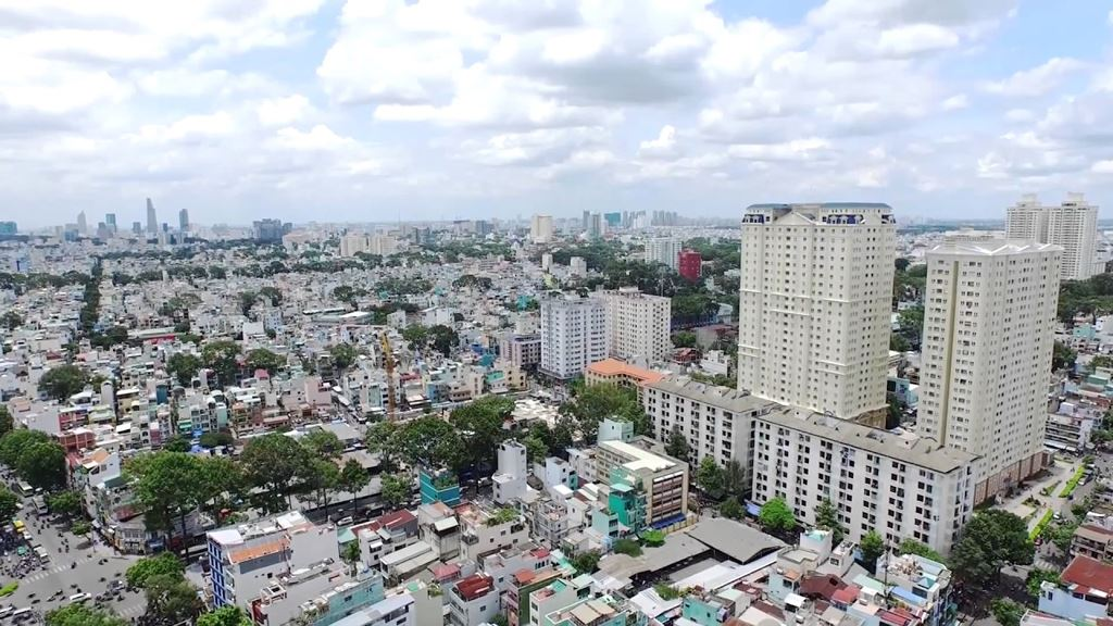 một góc thành phố Hà Nội nhìn từ trên cao