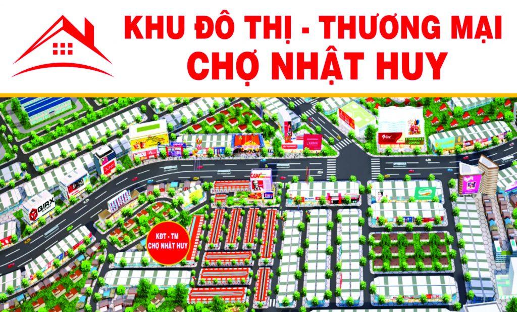 Phối cảnh tổng thể dự án Khu đô thị thương mại chợ Nhật Huy