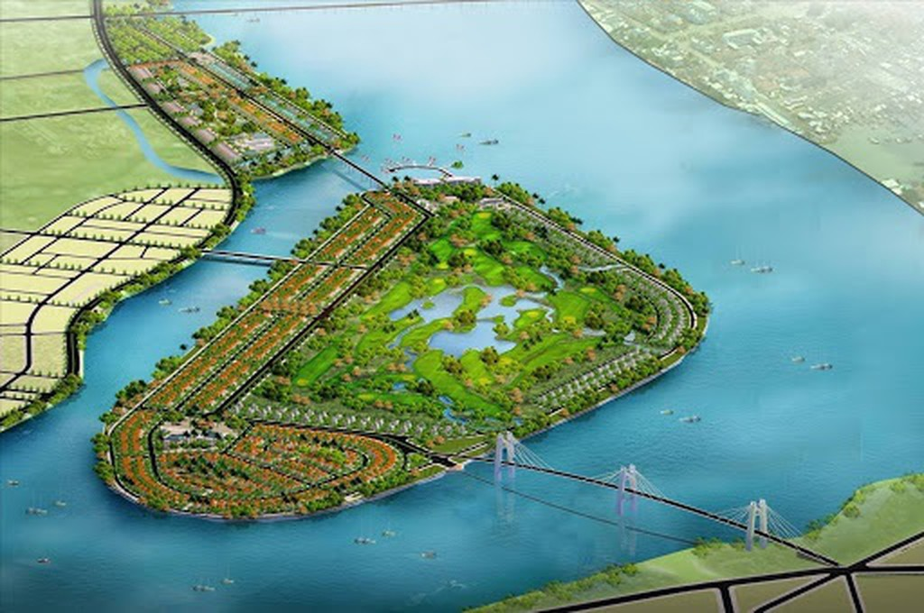phối cảnh khu đô thị sinh thái Đảo Ngọc tại Quảng Ngãi