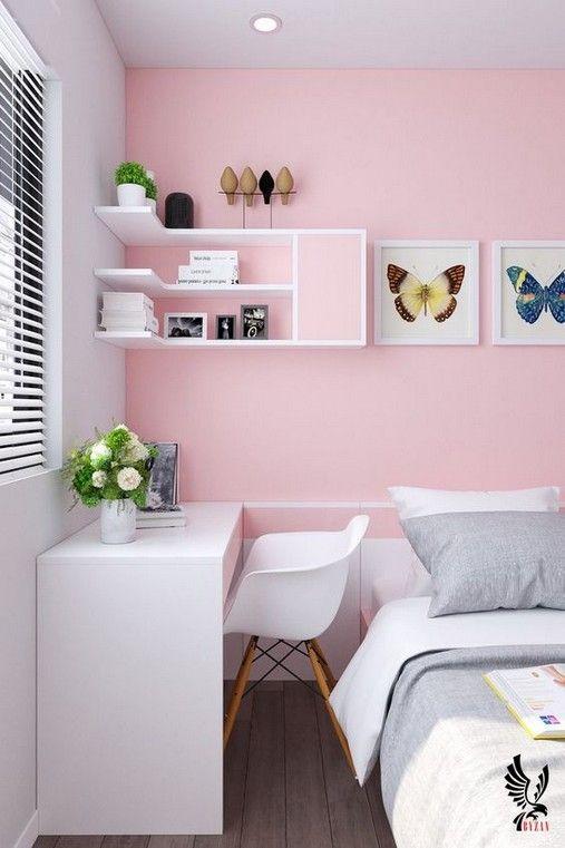 tường đầu giường màu hồng