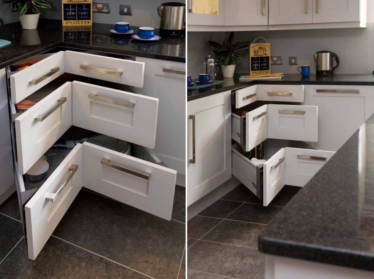 ngăn kéo góc bếp
