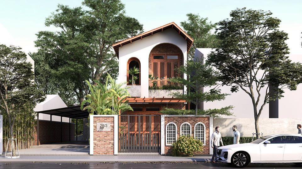 Mẫu thiết kế nhà 2,5 tầng mang hơi hướng Hội An