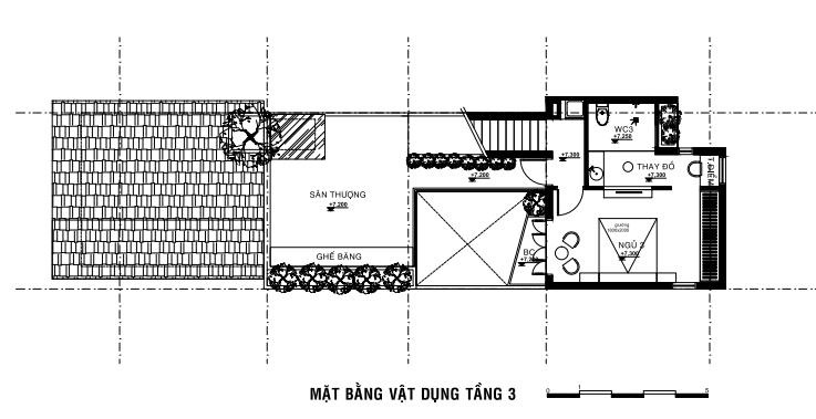 sơ đồ bố trí mặt bằng tầng 3