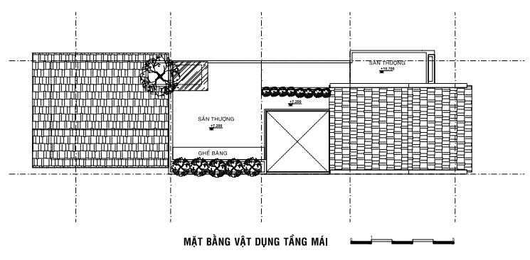 sơ đồ bố trí mặt bằng tầng mái