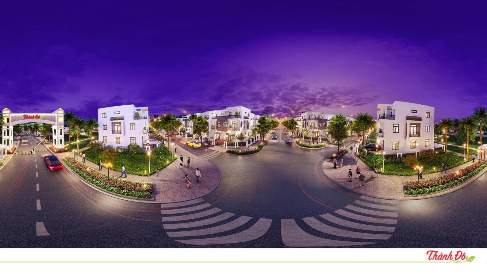 Phối cảnh tổng thể dự án Khu đô thị thông minh Thành Đô tại Ô Môn, Cần Thơ