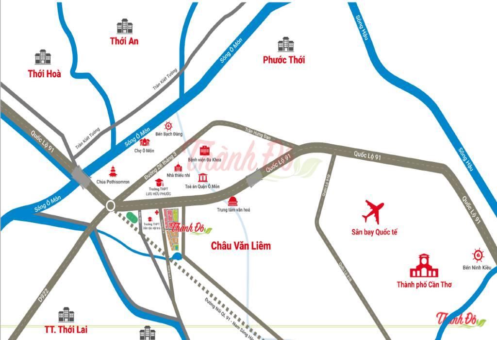 Vị trí dự án Khu đô thị Thành Đô trên bản đồ