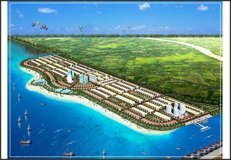 Phối cảnh tổng thể dự án Khu đô thị mới lấn biển Tây Bắc TP. Rạch Giá tại Kiên Giang