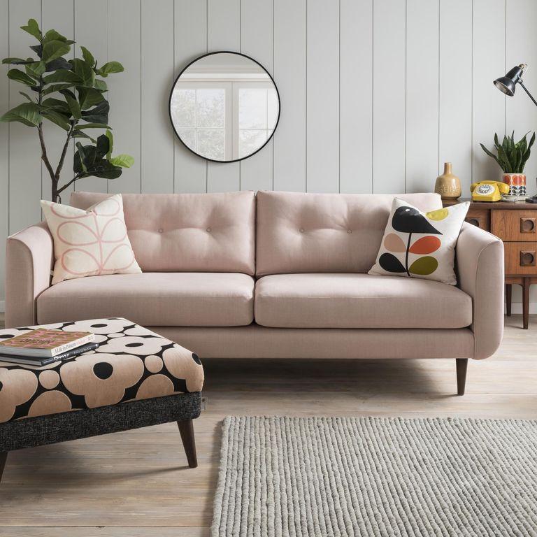ghế sofa đôi màu hồng