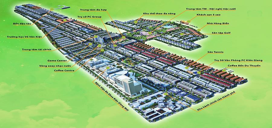 Phối cảnh tổng thể dự án Khu Đô Thị Mới Phú Cường