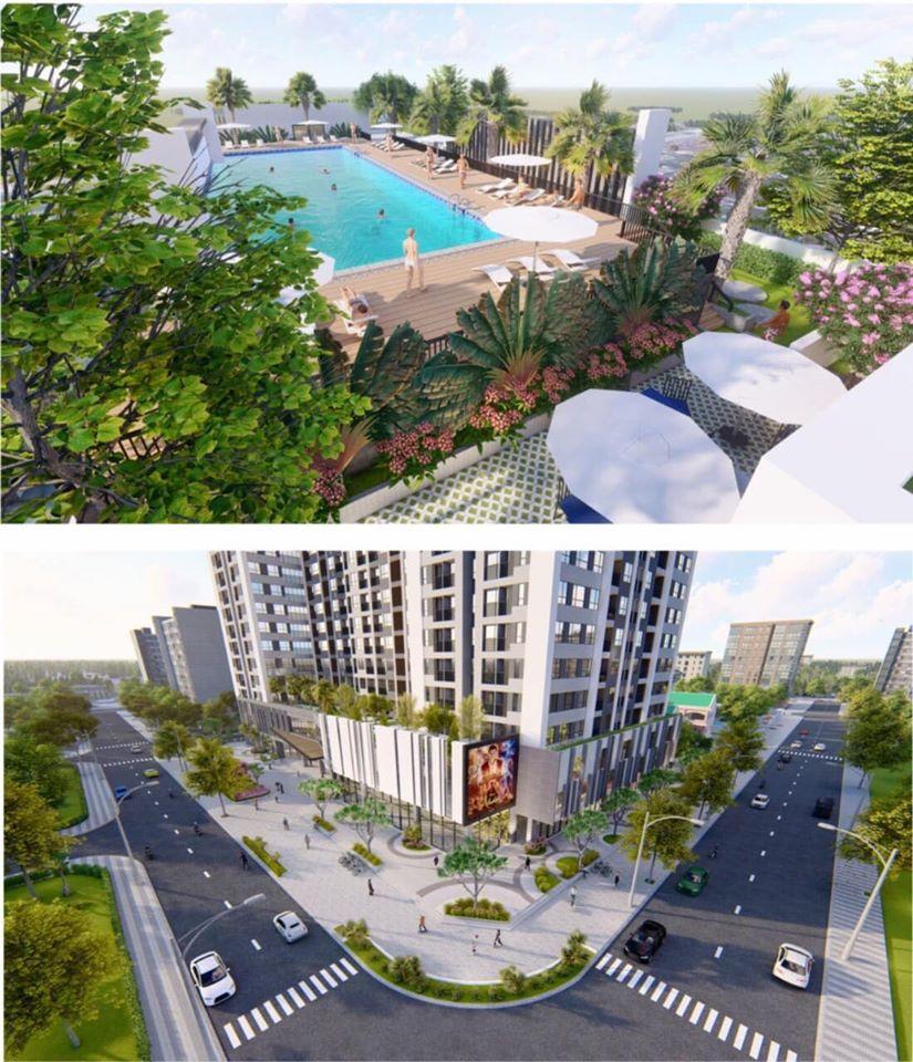 Tiện ích nội khu Chung cư La Fortuna với poolbar và trung tâm thương mại