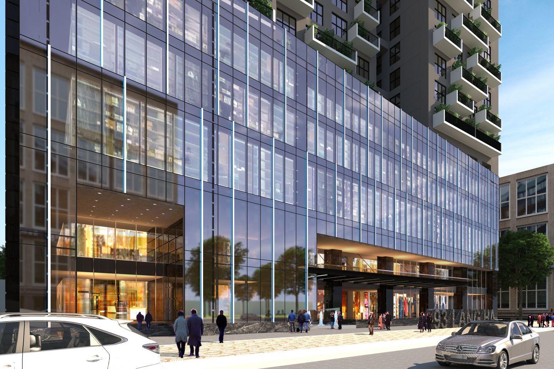 Khối đế dự án Green Building là Khu trung tâm thương mại
