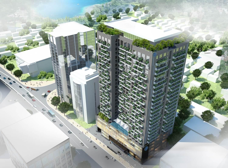 Phối cảnh tổng thể dự án Chung cư Green Building