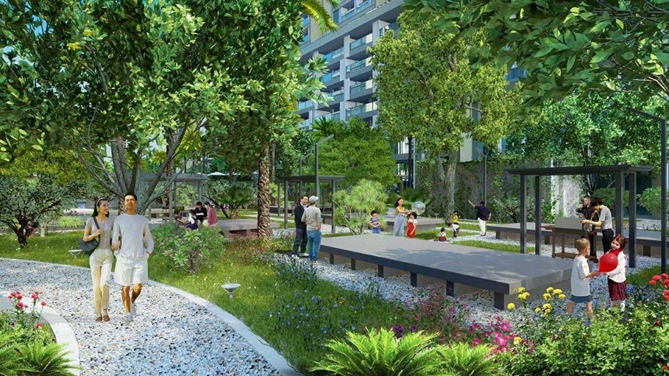 Công viên nội khu tại Green Building