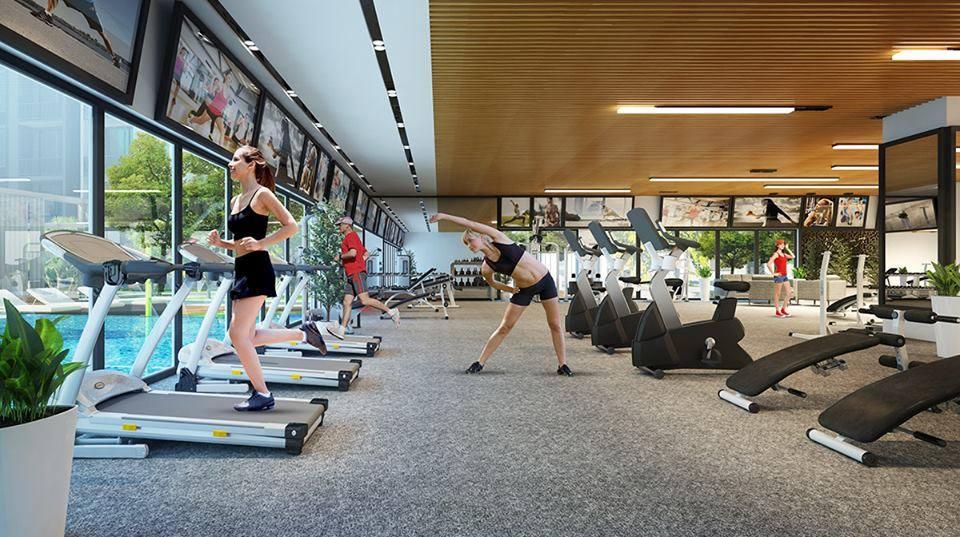 Phòng tập gym tại Green Building