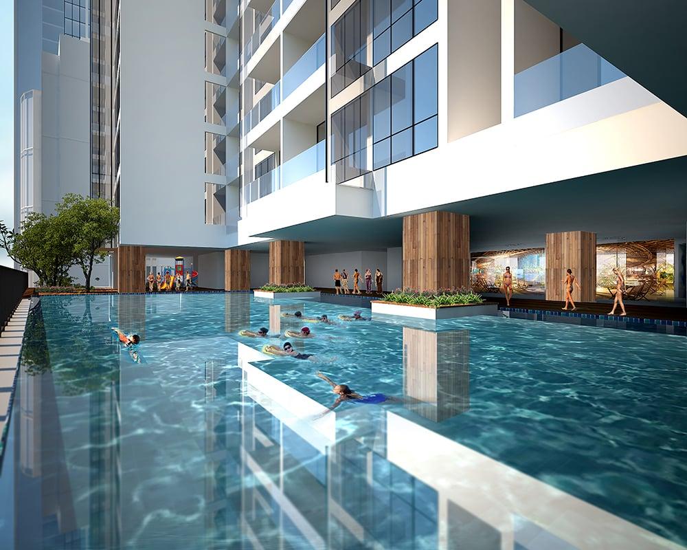 Bể bơi tại Green Building