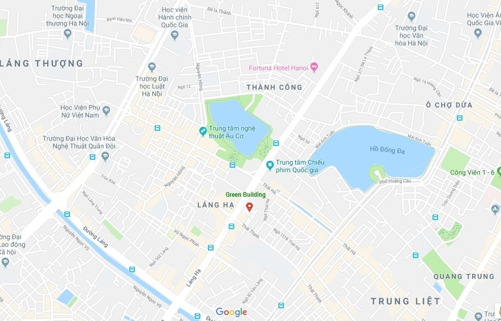 Vị trí dự án Chung cư Green Building trên bản đồ