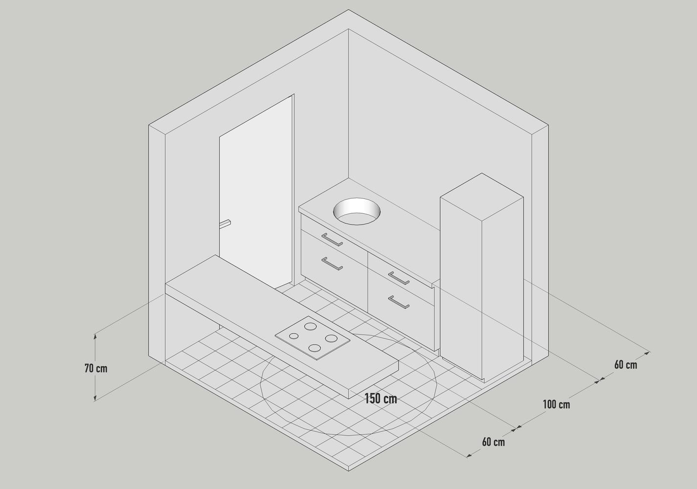 kích thước thiết kế bếp