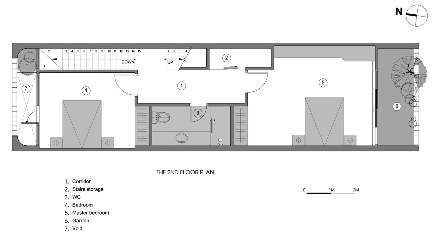 sơ đồ bố trí mặt bằng tầng 2