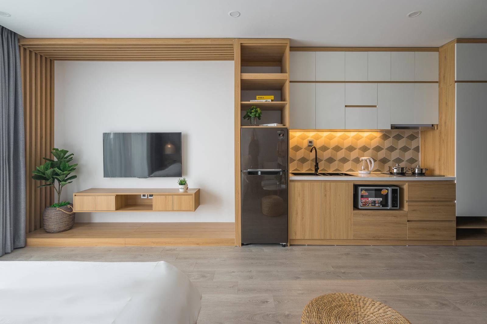 bếp và kệ TV