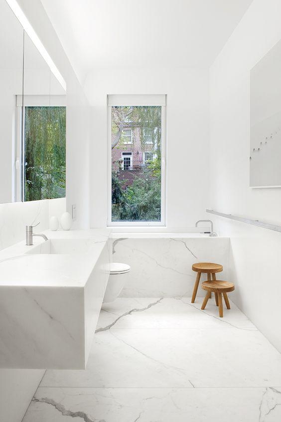 phòng tắm phong cách tối giản