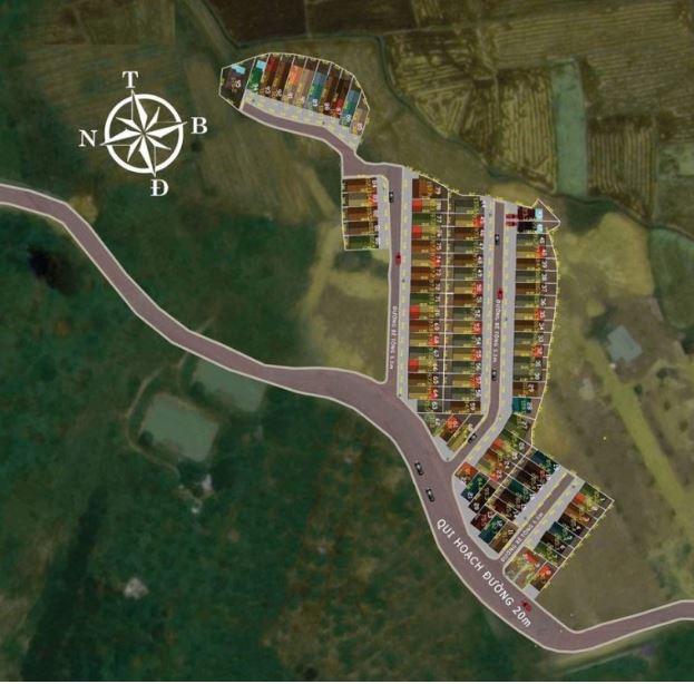 Sơ đồ quy hoạch dự án Harmony Town