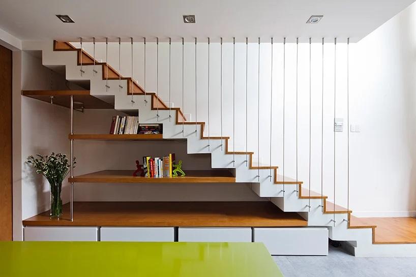 không gian lưu trữ ở gầm cầu thang