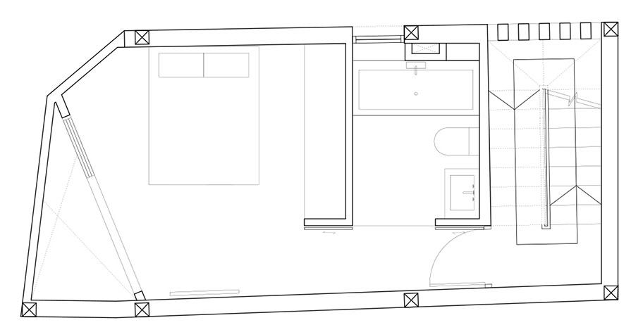 mặt bằng lầu 2